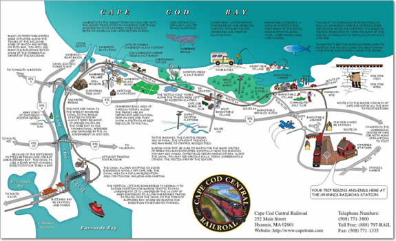 Cape Cod Central: Route Map Detailed Map Of Cape Cod on