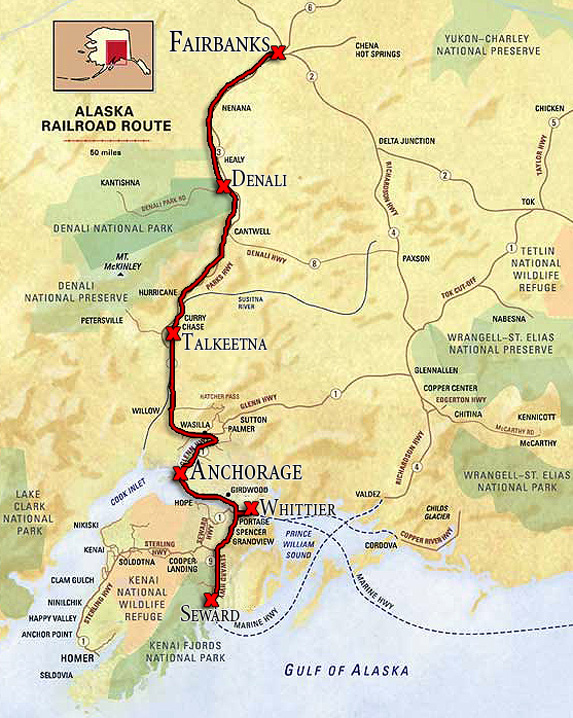 Alaska Railway: Route Map on russia and bering strait map, pa pennsylvania railroad map, state of alaska bering straits map, old alaska railroad map,