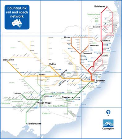 Rail Australia The XPT and XPLORER Maps