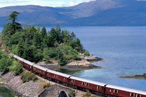Scenic view of The Royal Scotsman