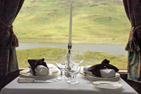 The Royal Scotsman: View from Dining Car