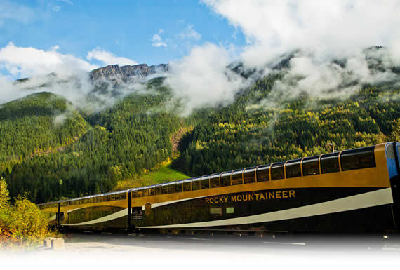 A sunny day on the Rocky Mountaineer